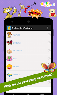 Stickers for Chat App - screenshot