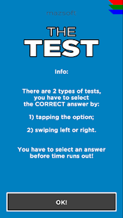 THE TEST - Test your skills - screenshot