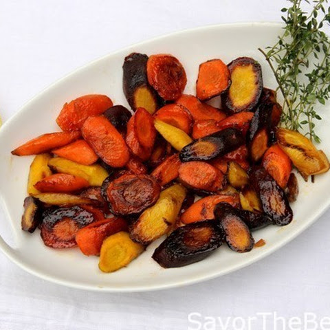 Ginger Glazed Rainbow Carrots