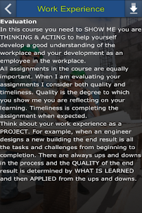 Argyll Work Experience Course - screenshot