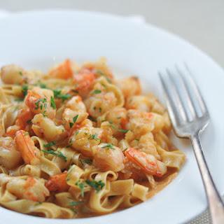 Prawn Pasta Cream Garlic Recipes