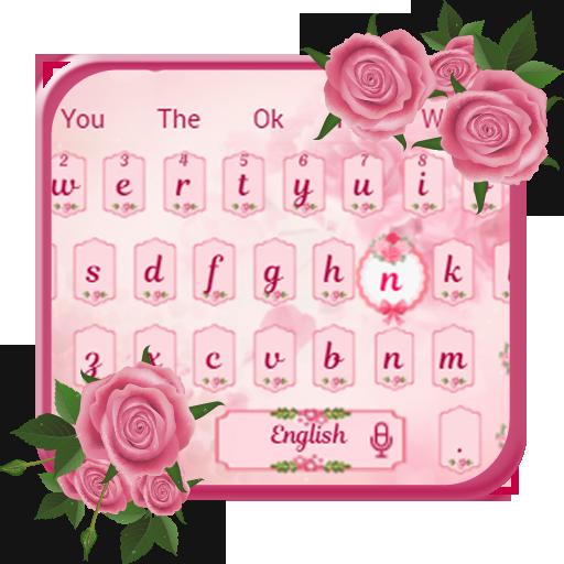 Pink Rose Love Keyboard (app)