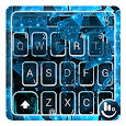 Blue Abstract Crystal Glass Keyboard Theme