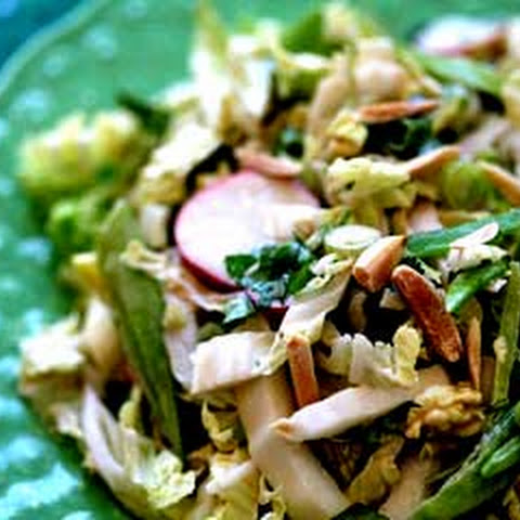 Sesame-Ginger Soy Curls With Napa Cabbage Salad Recipe — Dishmaps