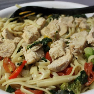 Chicken Primavera with Garlic Herb Sauce