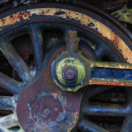 Railroad Decay by Briand Sanderson - Transportation Trains ( washington, snoqualmie, railway, railroad, museum, rust, decay )