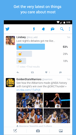 Twitter for Android TV screenshot 1
