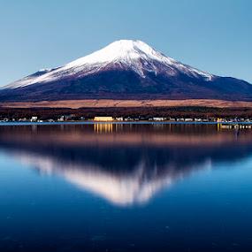 Mt.Fuji Reflection by Nyoman Sundra - Landscapes Mountains & Hills ( reflection, japan, mountain, lake, landscape )