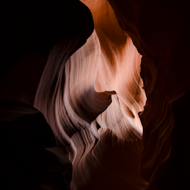 Cave by Kyley Hansen - Landscapes Caves & Formations ( water, slot canyon, az, arizona, cave )