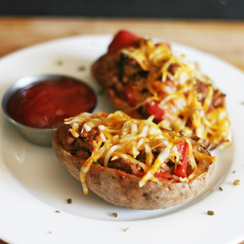 Cheeseburger Stuffed Twice Baked Potatoes