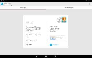 Screenshot of Touchnote