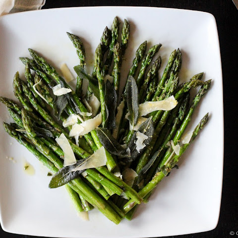 Roasted Asparagus with Crispy Fried Sage