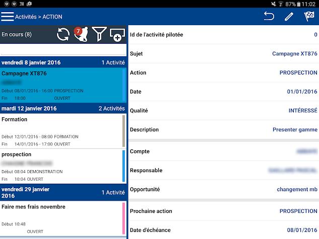 iMOB™ Contact Screenshot