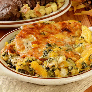 Butternut Squash And Creamed Spinach Casserole