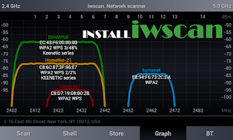Screenshot of Wi.cap. Network sniffer Demo