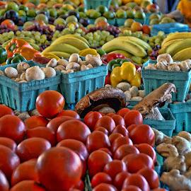 The Farmers Market by Luanne Bullard Everden - Food & Drink Fruits & Vegetables ( fruit, market, colors, vegetables, display )