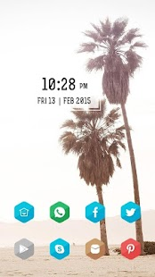 Palm beach theme - screenshot