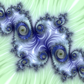 Island by Cassy 67 - Illustration Abstract & Patterns ( abstract, blue, green, swirl, wallpaper, digital art, spiral, relaxing, fractal, digital, fractals )