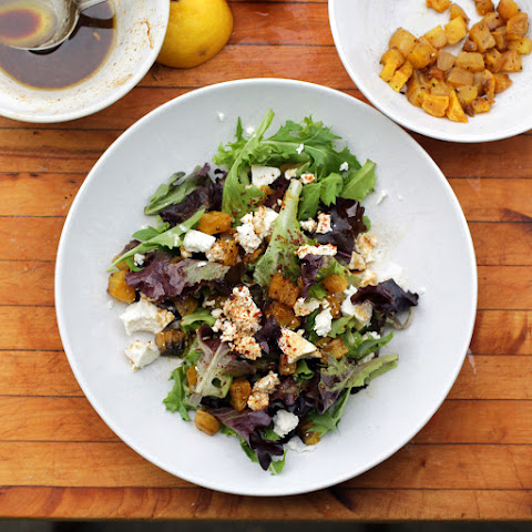 Roasted Golden Beet and Feta Salad