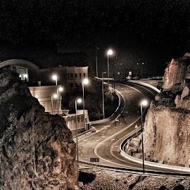 The road to somewhere by Cess Too-thak - City,  Street & Park  Street Scenes ( night photography, night life, night scene, road trip, night shot )