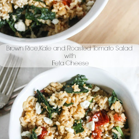 Brown Rice, Kale and Roasted Tomatoes with Feta Cheese