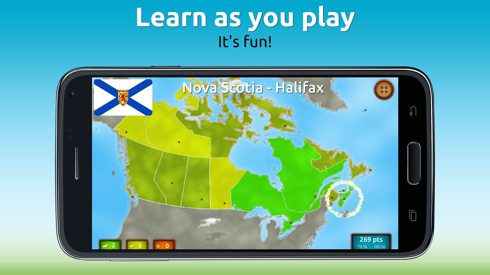GeoExpert - Canada Geography Screenshot 1