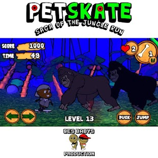 Pet Skate: Jungle Run Saga - screenshot