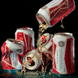 King of Beers by Pet Salvador - Food & Drink Alcohol & Drinks ( budweiser, beer, drinking, splash photography, king of beers )