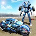 Police Moto Robot Superhero