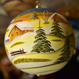 It's Christmas ! by Marco Bertamé - Artistic Objects Other Objects ( ball, tree, decoration, ornament, christmas, round, circle, yellow )