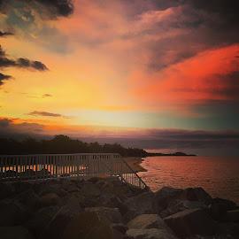 #instagood #sunset #exploreTNQ #machansbeach #instapic #feelgood by Simone Disney - Landscapes Beaches