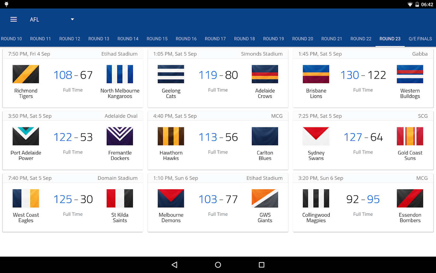 AFL Footy Live Screenshot 9