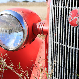Resto Project by Don Bates - Transportation Automobiles ( red, chrome, headlight, buick, antique )