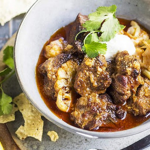 Lamb Shoulder Curry With Ginger, Warm Spices And Cauliflower