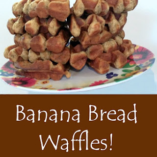 Amazing Banana Bread Waffles Recipe (No sugar or eggs added!)