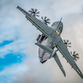 Airbus A400M by Anthony P Morris - Transportation Airplanes ( transporter, plane, anthony morris, defenceandspace, oxford, anthonypmorris, farmoor, a400m, airbus )