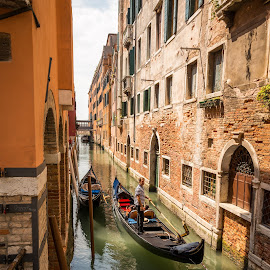 Venice by Kevin Warrilow - City,  Street & Park  Historic Districts ( water, canals, gondola's, venice, city )