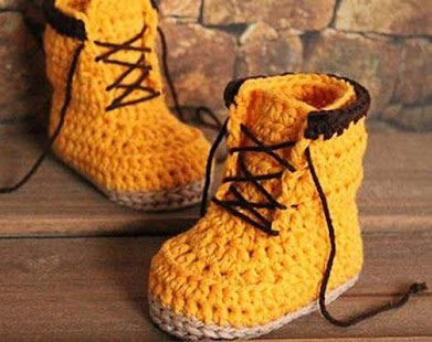 Crochet Kids Boots - screenshot