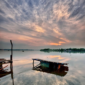Faith by Hendri Suhandi - Landscapes Cloud Formations ( west kalimantan, cloud, sunrise, river, borneo )