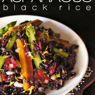 Lemon Black Rice Spring Salad