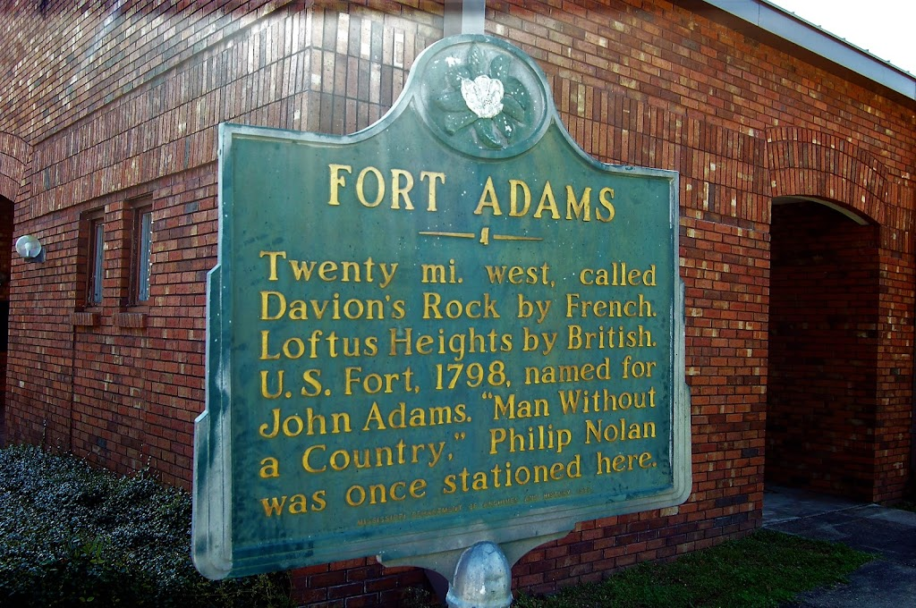 Twenty mi. west, called Davion's Rock by French. Loftus Heights by British. U.S. Fort, 1798, named for John Adams.
