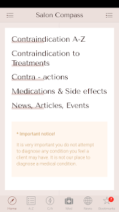Salon Compass - Contraindications screenshot for Android