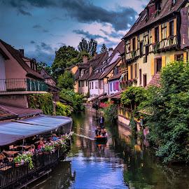 Colmar in Alsace, France by Arif Sarıyıldız - City,  Street & Park  Vistas ( little venice, france, alsace, travel, colmar )