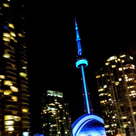 CN Tower by Natasha Lena - Buildings & Architecture Public & Historical ( cityscapes, toronto, cn tower, cityscape, nightscape )