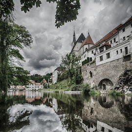 Cesky Krumlov by Adam Lang - Landscapes Waterscapes ( cesky krumlov, vltava, czech, reflections, bohemia )