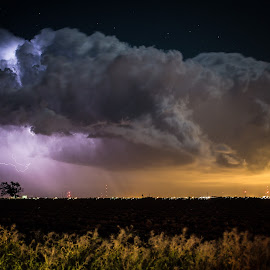 Rolling Thunder by Ashley Saed - Landscapes Weather ( lubbock photographer, living tree designs, lightning, storm photography, lighting photography )