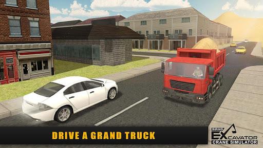 Sand Excavator Truck Sim 2017 - screenshot