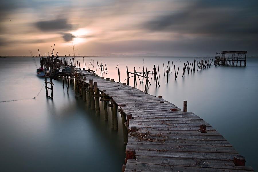 by Aris Klempetsanis - Buildings & Architecture Bridges & Suspended Structures ( sunset, carrasqueira, pier, seascape )