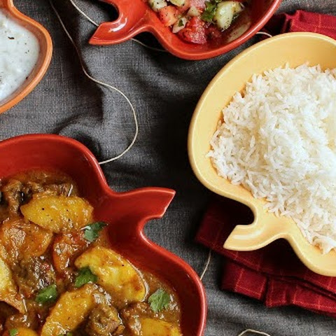 Persian Apple Stew with Dried Apricot