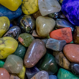 Colored Rocks by Ruth Sano - Artistic Objects Other Objects ( colorful, stones, rocks, shiny,  )